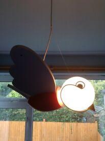 Childrens ceiling light bird pendant