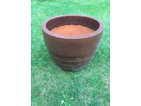 """12"""" high terracotta pot"""