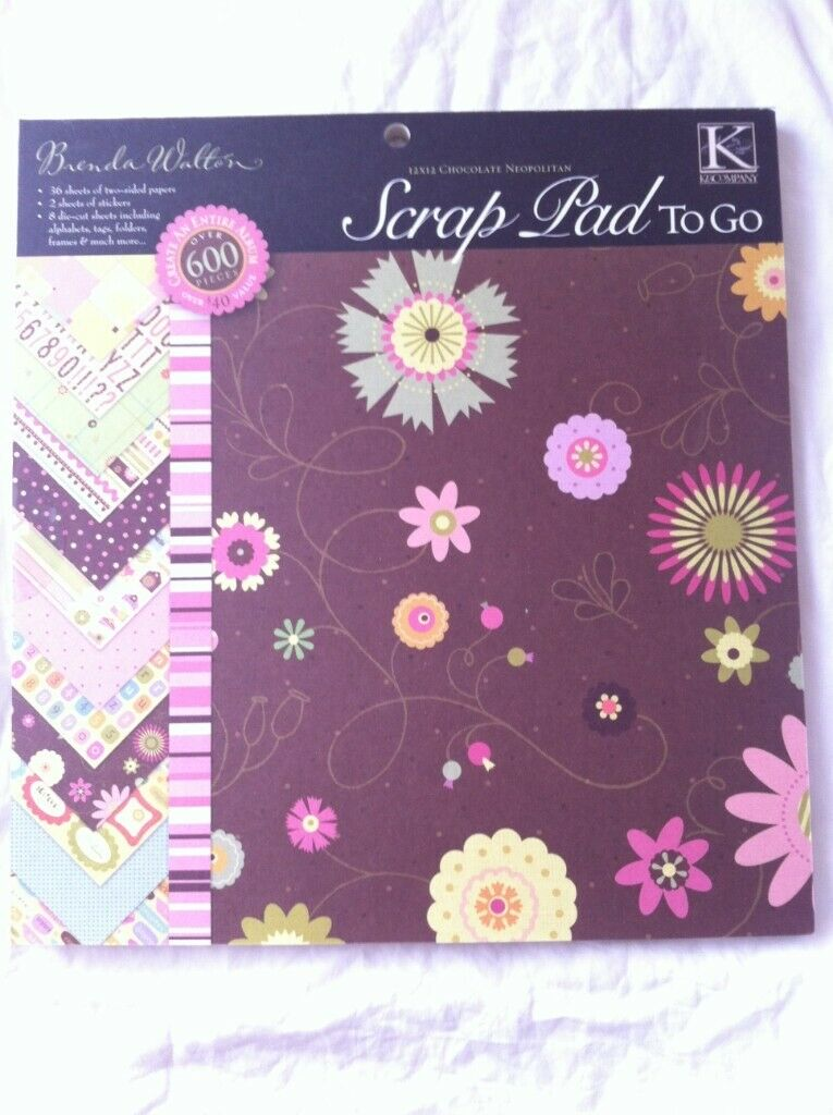 Scrapbook pad - New K&K double sided including die cut embellishments | in  London | Gumtree