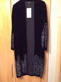 BNWT Black Velvet Evening Coat
