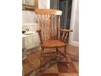 Large farmhouse chair