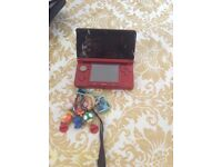 Nintendo 3DS-red-