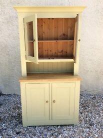 Painted pine wood dresser with oak worktop