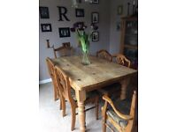 Distressed / vintage kitchen table and chairs