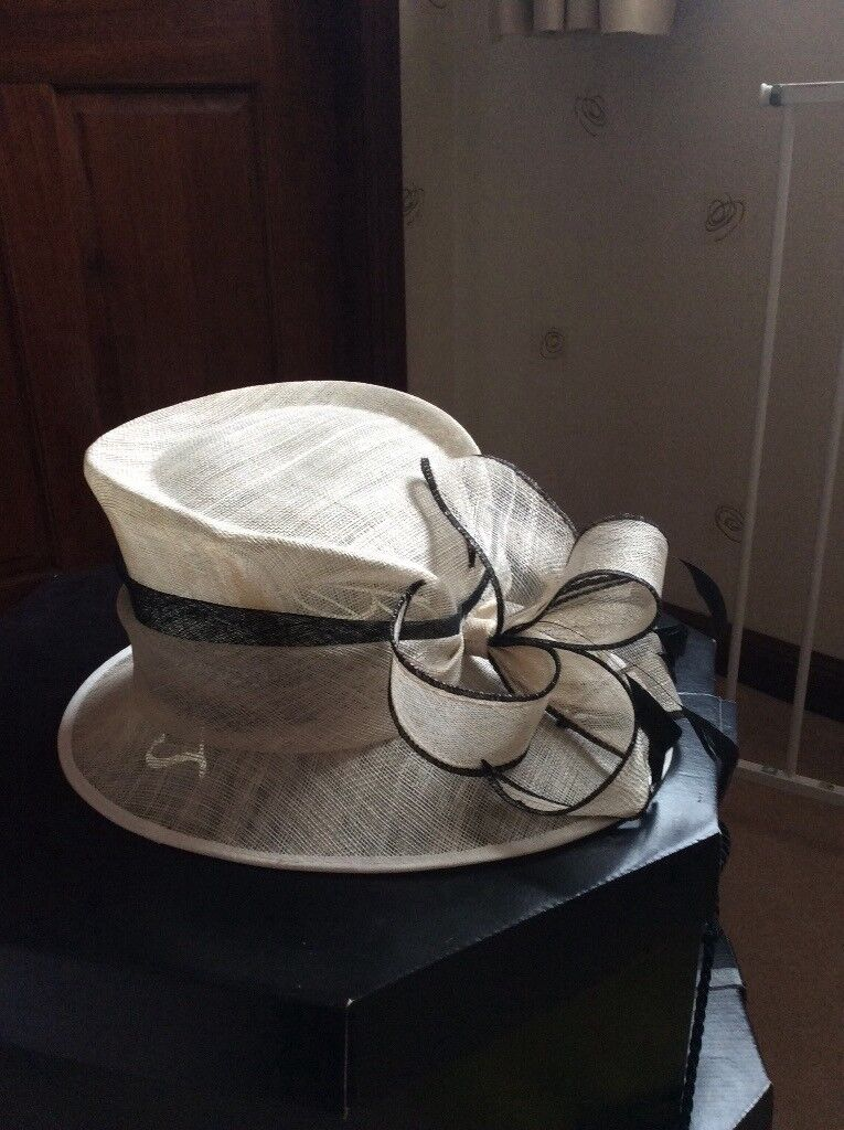 Beautiful Cream and black ladies hat