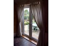Large pair of ikea curtains and beech wood pole