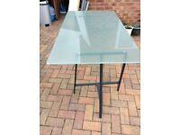 Ikea glass top desk
