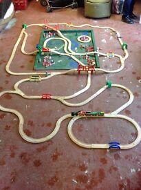 Children's Wooden railway / train set