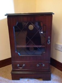 Reproduction wood cupboard music hi-fi cabinet unit