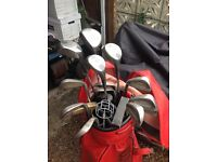 Full set of Wilson left handed golf clubs