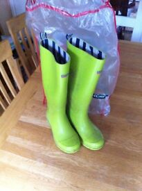 Wellington boots (women's): Town & Country, size 5, green