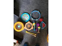 Music bundle mainly wooden