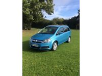 Vauxhall Zafira 1.6 club 7 seater 55 2006 plate blue excellent condition