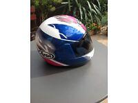 Arai motorcycle helmet.