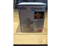 Braun Citromatic 7 Vario Juicer - as new never used