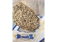 Pea Gravel, Clean Re-Cycled in fourteen bags