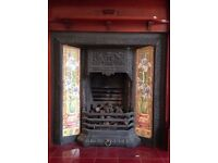 Beautiful Cast Iron Fire Surround with Tiles - Hyndland, Glasgow