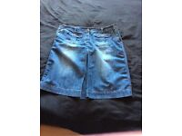 Faded look denim skirt 18/20