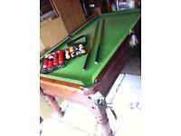 Vintage Slate Bed Snooker Table plus !