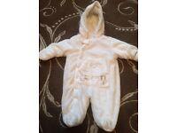 Designer baby snowsuit/pramsuit