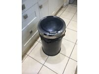 Black & chrome 50 litre bin