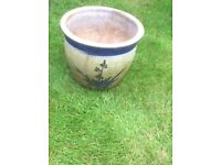 Two large outdoor plant pots