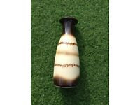 A Vintage 1960's Brown and Cream Scheurich - Keramik West German Vase