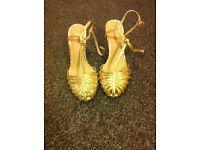 Women's Gold Asos Shoes Size 5