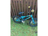 Blue stunt peg bike age 7/8