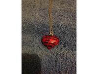 Heart tattoo pendant silver