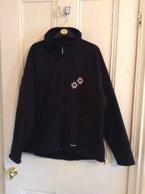 Paw print jacket. Black size XXL (16) never worn.