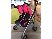 Double buggy for dolls