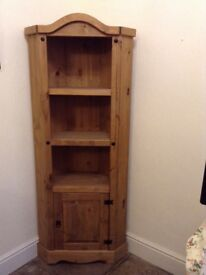 Corona Corner shelving Display Unit with Cupboard, as new condition just £35 tel Liz 07933 398348