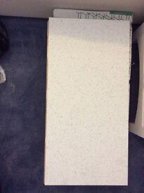 Quartz stone white glitter tiles