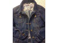 Ladies Denim Jacket with pockets button fastening - Size 10 - Hardly worn!