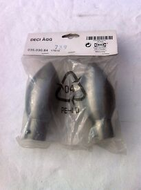 Finials pair of large metal ones from Ikea Deci agg
