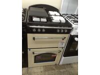 Leisure gourmet classic double oven. Cream gas. 60cm. New/graded 12 month Gtee