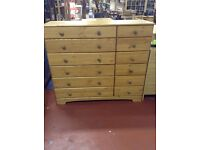 Brand new Nordic pine 6+6 drawer chest