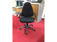 Black, swivel-based computer chairs £25 (12 available)