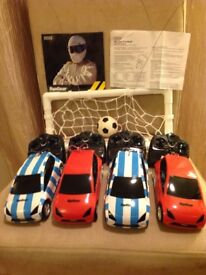 Remote control cars football floor game