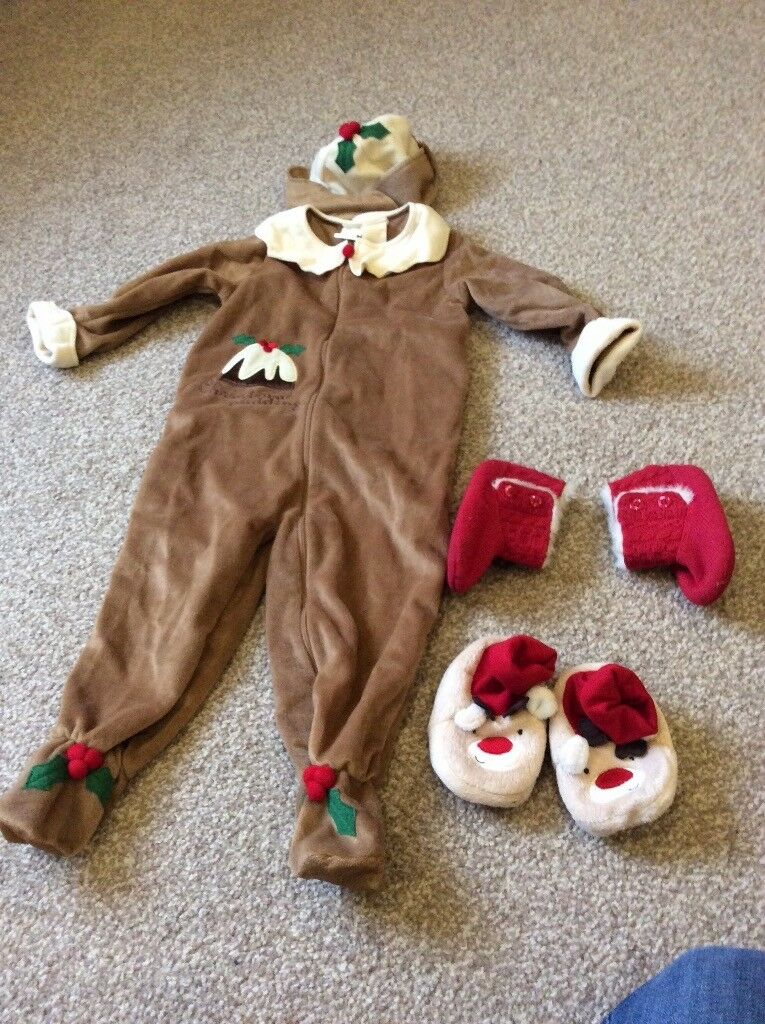 Christmas pudding fancy dress outfit size 12-18 months