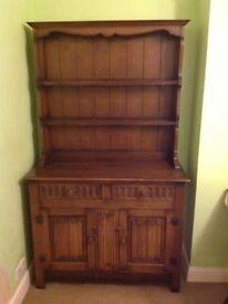 Oak Dresser and Cabinet