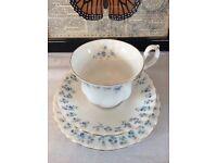 "Royal Albert ""Memory Lane"" Cup, Saucer and Tea Plate"