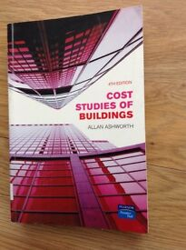 Cost Studies of Buildings. 4th Edition. Author , Allan Ashworth. Bought for 35 pounds.