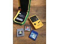Nintendo gameboy colour and games including Pokemon