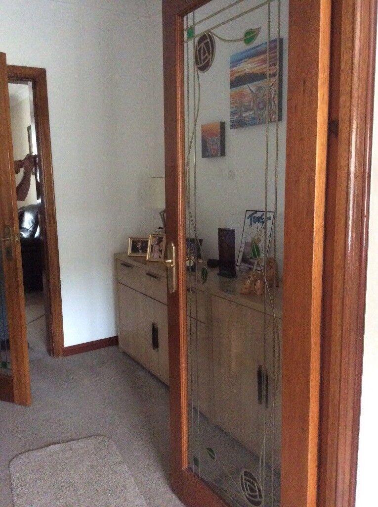 5 X Mahogany Interior Doors Glass Panel Rennie Mcintosh Design In