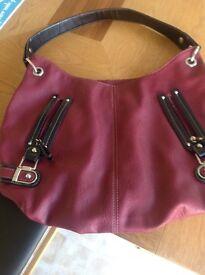 Burgundy Shoulder Handbag