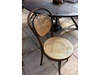 8 x Bentwood chairs with cane seat