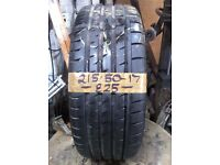 215-50-17 Continental ContiSportContact 3 95W 7mm Part Worn Tyre