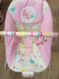 Bright stars baby bouncer - girls - excellent condition